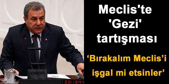 Meclis te  Gezi  tartışması
