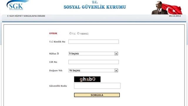 SGK Şifresiz Hizmet Dökümü Prim Sorgulama SGK Sorgulama SSK