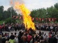 Edirne'de dev Hıdırellez ateşi