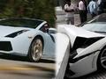 Vale Lamborghini'yi park ederken çarptı