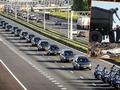 Hollanda'ya getirilen cenazeler konvoyla taşındı